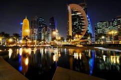 Qatar doha at night. Royalty Free Stock Image
