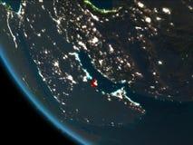 Qatar en la noche de la órbita ilustración del vector
