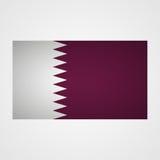 Qatar flag on a gray background. Vector illustration Stock Photos