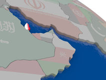 Qatar with flag Stock Image