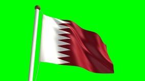 Qatar flag stock footage