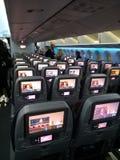 Qatar flight interior royalty free stock photos