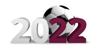 2022 Qatar football soccer 3d render. Design Stock Photos