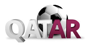 Qatar football soccer 3d render. Graphic Stock Photos