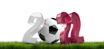 2022 qatar football soccer 3d render. Illustration Royalty Free Stock Photo