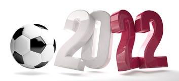2022 qatar football soccer. Illustration Royalty Free Stock Image