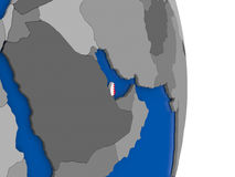 Qatar on globe with flag Royalty Free Stock Photography