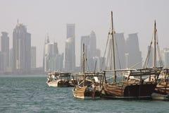 Qatar: Herança velha e arquitetura nova Imagem de Stock