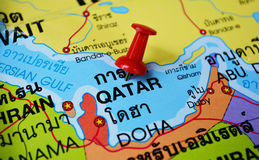 Qatar map Royalty Free Stock Images
