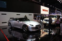 Qatar Motorshow 2011 - Nissan royalty free stock photo