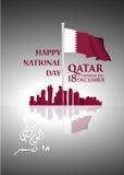 QATAR  National Day background Royalty Free Stock Photo