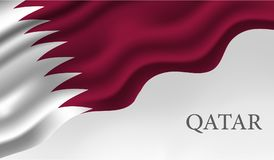 Qatar national day background. Background on the occasion of Qatar national day december 18 th . vector illustration royalty free illustration