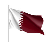 Qatar national flag, realistic vector illustration Stock Image