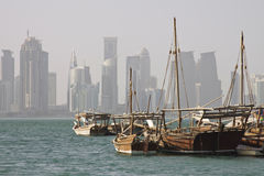 Qatar: Old heritage and new architecture Stock Image