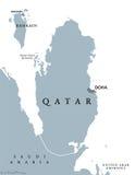 Qatar political map Royalty Free Stock Photos