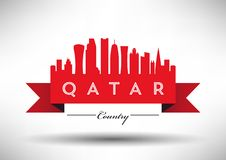 Qatar Skyline Design royalty free illustration