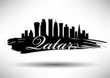 Qatar Skyline Design stock illustration