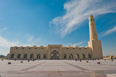 Qatar state mosque. The majestic state mosque in Doha, Qatar. Slight wide angle barrel distortion Stock Photography