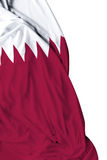 Qatar waving flag on white background Stock Images