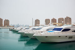Qatar yacht marina view Stock Photo