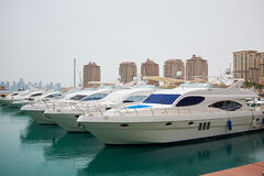 Qatar yacht marina view Stock Photography