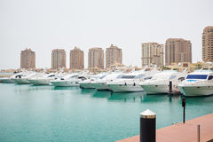 Qatar yacht marina view Stock Images
