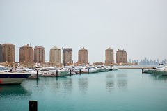 Qatar yacht marina view Royalty Free Stock Images