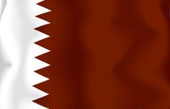 qatari σημαιών Στοκ φωτογραφία με δικαίωμα ελεύθερης χρήσης