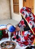 Qatari craftswoman Royalty Free Stock Photography