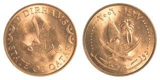 10 Qatari-Dirhammuntstuk Royalty-vrije Stock Afbeelding
