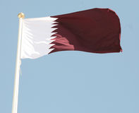 Qatari flag Stock Photos