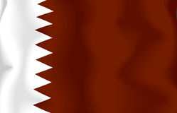 Qatari Flag Royalty Free Stock Photography