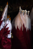 Qatari flags on sale Stock Image