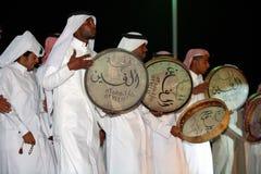 Qatari folk drummers Royalty Free Stock Image