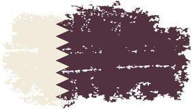 Qatari grunge flag. Vector illustration. Royalty Free Stock Image
