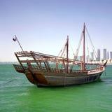 Qatari Hochkonjunktur Dhow lizenzfreies stockbild