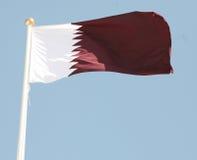 Qatari Markierungsfahne Stockfotos