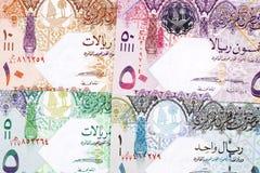 Qatari money a background. Qatari money a business background stock photo