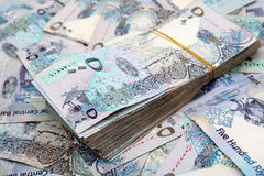 Qatari money Royalty Free Stock Photo