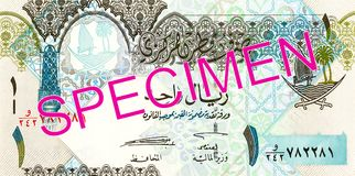 1 qatari riyal bank note bank note full frame obverse. 1 qatari riyal bank n obverseote bank note full frame, specimen stock images