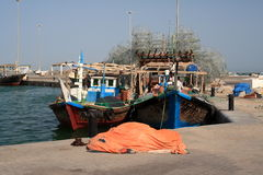 Qatarian fishing boat. A fishing boat in Qatar Stock Images