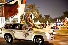 Qataris celebrating National Day Stock Image