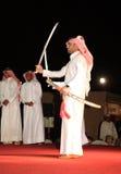 Qataris dance the Arda Royalty Free Stock Images
