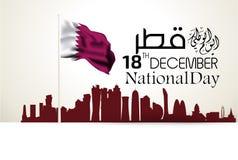 QATARISK bakgrund för nationell dag royaltyfri illustrationer