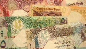 Qatarisk valuta Arkivbild