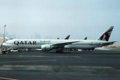Qatariska flygbolag Fotografering för Bildbyråer