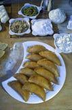 Qatayef or Katayef, Arabic Sweets with Nuts for Ramadan and Eid. Qatayef or Katayef, Arabic Sweets with Nuts and Other Ingredients for Ramadan and Eid Royalty Free Stock Images