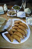 Qatayef or Katayef, Arabic Sweets with Nuts for Ramadan and Eid. Qatayef or Katayef, Arabic Sweets with Nuts and Other Ingredients for Ramadan and Eid Stock Images