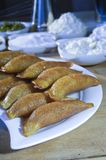 Qatayef or Katayef, Arabic Sweets with Nuts for Ramadan and Eid. Qatayef or Katayef, Arabic Sweets with Nuts and Other Ingredients for Ramadan and Eid Royalty Free Stock Photo