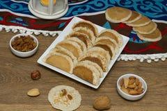 Ramadan Sweets - Qatayef. Qatayef - Traditional middle eastern sweets , usually eaten in Muslims holy month : Ramadan royalty free stock photos